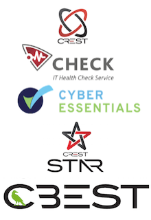 CREST, CHECK, CBEST, Cyber Essentials Logos