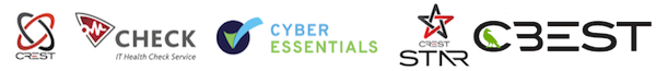 CREST,CHECK,CBEST,Cyber Essentials Logos
